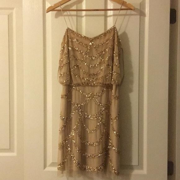 Aidan Mattox Dresses & Skirts - Gold sequined mini dress